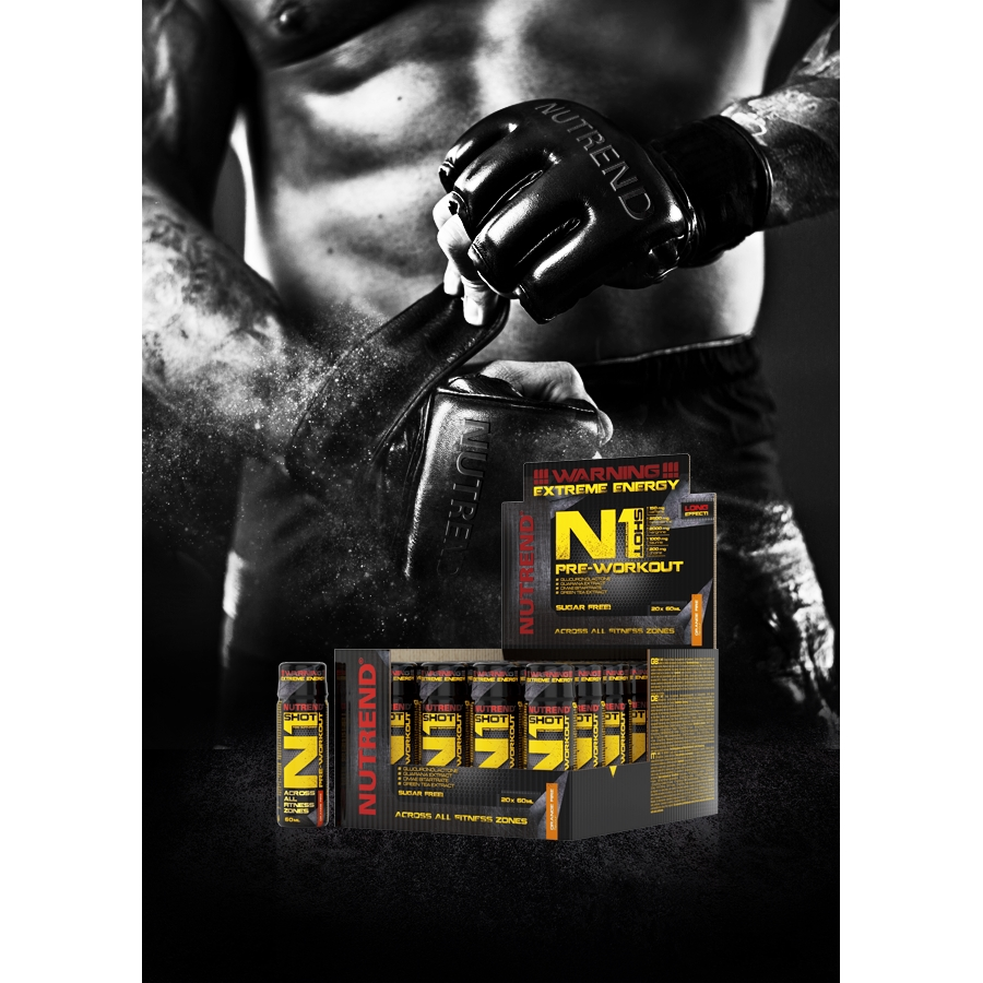 Nutrend N1 Pre-Workout Shot 20x60 мл